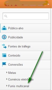 Funil multicanal no Google Analytics