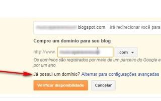 Associar Domínio personalizado ao blogger